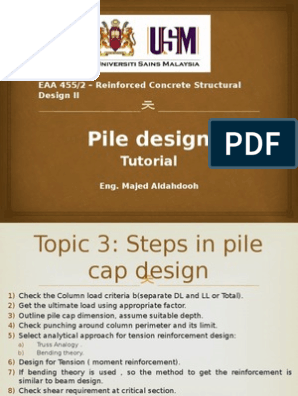 Pile Cap Design 1 Pptx | Deep Foundation | Bending