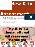 New Grading System of the K to 12