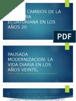 Crisis y Cambios de La Economia Ecuatoriana Final