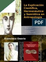 La Explicación Científica Hermenéutica y Semiótica En