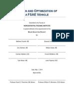 2014 Fsae Mqp Report