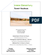 greene elementary parent handbook