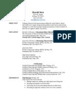 jr  resume