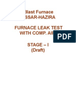 Hazira BF Furnace Leak Test Procedure Oo1 HAZIRA BF -7th