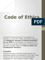 Code of Ethics Presentation Report