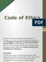 Code of Ethics Presentation Report