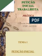 Aula - Peticao Inicial TrabalhistPa 1 CEP
