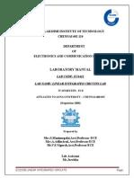LIC Lab Manual anna university