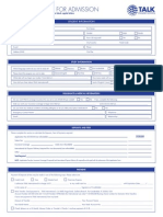 TALK City Center Application Form 2015 Fillable