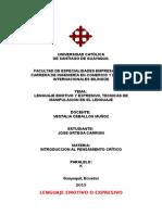 TECNICAS MANIPULACION