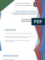 Síntesis de Acetato de Isoamilo ESTERIFICACION de FISCHER
