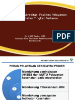 Kebiakan Akreditasi Fktp, Sby 16 Sept 2014