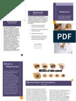 melanoma brochure