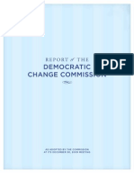 Democratic Change Commission Report