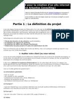 Planning complet pour la création d'un site internet