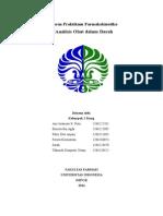 Laporan Praktikum Farmakokinetika Analisis Obat Dalam Darah - Klp4 Jumat Siang