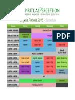Origins Retreat Schedule