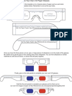 Make Your Own 3-D Paper Glasses