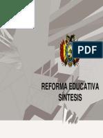 Sintesis de La Reforma Educativa