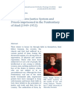 The Oppresive Justice System and Priests Imprisoned in the Penitentiary of Aiud (1949-1952)