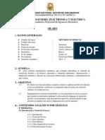 Syllabus - METODOS NUMERICOS - UNMSM - FIEE