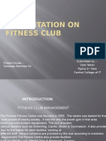 Fitness Club Ppt