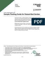 Sample Planting Guide for Raised-Bed Garden