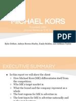 Michael Kors Media Plan