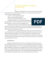 Indicatii de Regim Alimentar in Bolile Pancreatice
