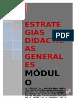Módulo Estrategias Didácticas Generales