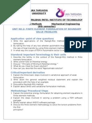 FEM Assignment_2 Finite Element Formulation of Boundary