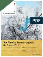 Der Große Steuervergleich für Asien 2015