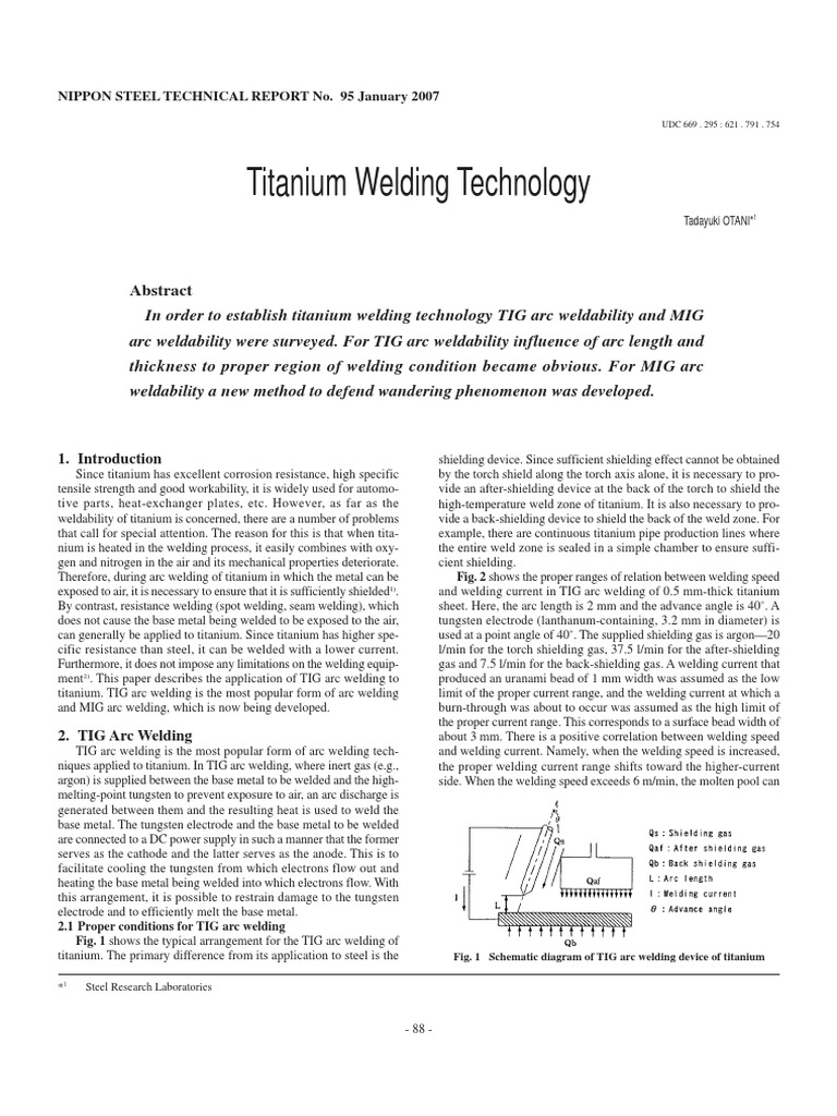 Titanium Welding Electric Arc Diagram Of