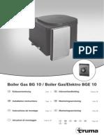 Truma Boiler Gas BG 10 Instalation