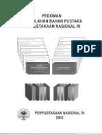 Pedoman Pengolahan Bahan Pustaka Perpustakaan Nasional