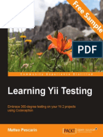 Learning Yii Testing - Sample Chapter