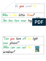 various magic word sentences coloured