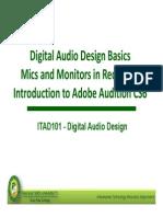 01 ITAD101 Module 01 Digital Audio Design Basics 3T1415