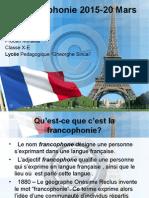 La francophonie 2015-20 Mars.ppt