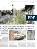 El Ayuntamiento compra el frontón Beti-Jai por siete millones de euros (ABC - 28/04/2015)
