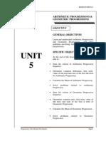 BA201 Engineering Mathematic UNIT5 - Progression