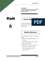 BA201 Engineering Mathematic UNIT6 - Matrices Introduction