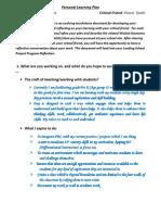Namita Personal Learning Plan 2014 -15