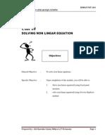 BA201 Engineering Mathematic UNIT11 - Solving Non-linear Equation
