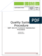 QSP 621 01Customer Satisfaction Procedure
