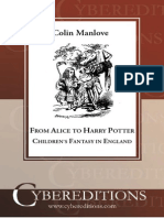 Manlove - From Alice to Harry Potter Childrens Fantasy in England