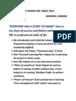 One Pager of Radhika Bagdai