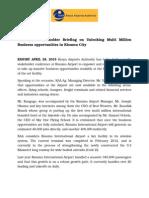 Press Release-KAA Host Stakeholder Briefing on Unlocking Multi Million Business Opportunities in Kisumu City