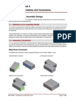JJ306 Autodesk Inventor Week 4 - Project 2 - Assemblies and Constraints