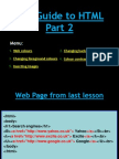 Guide to HTML Part2